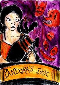 """""""Pandora's Box Card"""" By C. A. Brown"""