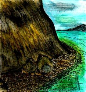 """""""Grey Cliffs"""" By C. A. Brown"""