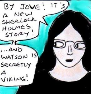 2015 Artwork Lost Sherlock Holmes story review sketch