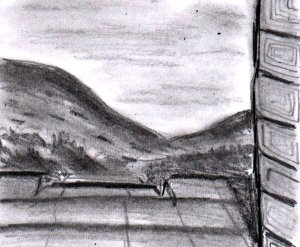 I think that I was trying to draw a landscape here. Anyway, whatever it was, I failed miserably at it LOL!