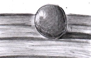 I don't know why, but drawing a realistic-looking sphere seems to be almost obligatory when you start drawing with graphite pencils for the first time LOL!
