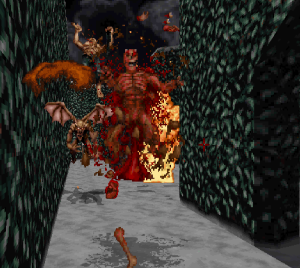 This is about as gruesome as the game gets. Which, in 1997, was a lot more shocking than it probably is today.