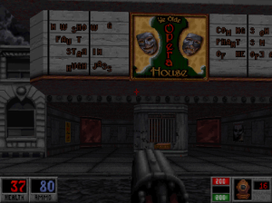 Duke Nukem might get to visit a cinema, but Caleb has far more sophisticated tastes....