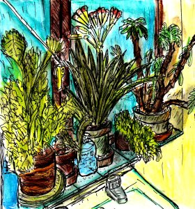 """Bathroom Plants"" By C. A. Brown"