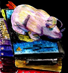 """""""Plush Rat And DVDs"""" By C. A. Brown [2015]"""