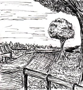 """Practice Park (Lineart)"" By C. A. Brown"