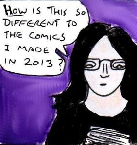 2015 Artwork Revisiting old comics article sketch