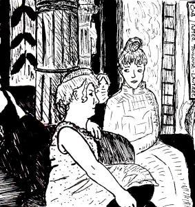 """""""Rue Des Moulins (After Lautrec)"""" By C. A. Brown"""