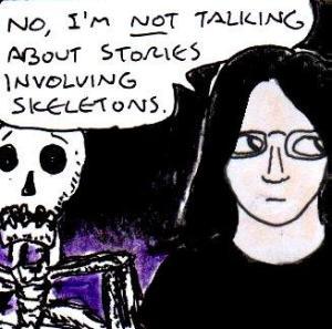 2015 Artwork Skeleton Storytelling article sketch