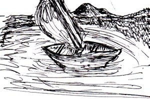 This was a random boat that I doodled in my sketchbook. I'm surprised at how well it turned out :)