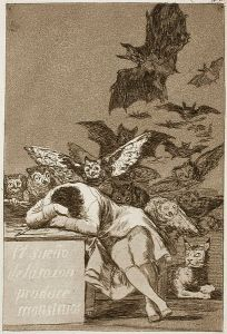 """El sueño de la razon produce monstruos"" By Francisco Goya [Image from Wikipedia]"