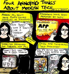 """""""Four Annoying Things About Modern Tech"""" By C. A. Brown"""