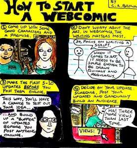"[CLICK FOR LARGER IMAGE] ""How To Make A Webcomic"" By C. A. Brown"
