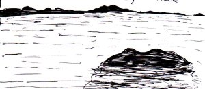 This was a random ocean that I drew at the bottom of one of my sketchbook pages when I was feeling uninspired.