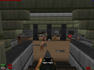 "Yes, there are classic ""Doom""-style areas in these levels..."