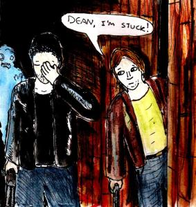 """Fan Art - Supernatural - Sam And Dean"" By C. A. Brown"