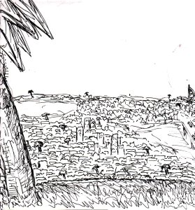 """""""The Palms Of Portsmouth (Lineart)"""" By C. A. Brown"""