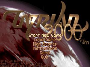 Tyrian 2000 title screen