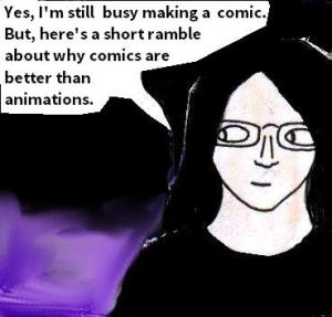2015 Artwork  comics are better than animation article sketch