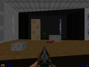 Yes, the Doomguy is actually carrying standard UAC military weponry in this WAD.