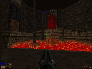 And there's also molten lava in one of the other early levels too.