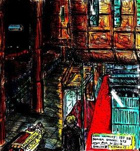 """""""Aberystwyth - Cyberpunk Library"""" By C. A. Brown"""