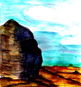 """Desert Boulder"" By C. A. Brown"