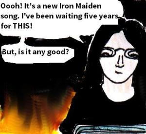 2015 Artwork Iron Maiden Speed Of Light review sketch