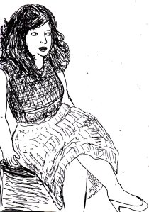 This was a random vintage fashion-themed drawing that I drew in my sketchbook a few months ago.