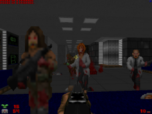 "The military zombie in this screenshot also seems to be a reworked version of one of the player sprites from ""Temple Of The Lizard Men III"" too."