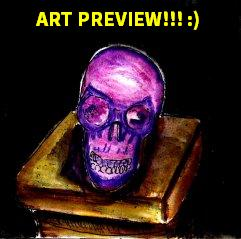 """""""Art Preview - Purple Skull (small version)"""" By C. A. Brown"""