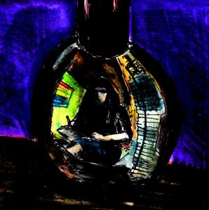 """""""Self-Portrait In A Bottle Of Nail Varnish"""" By C. A. Brown [2015/16]"""