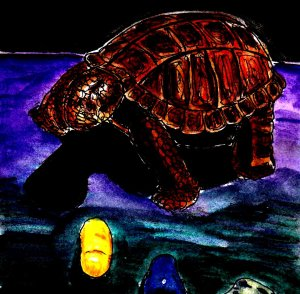 """""""Tortoise Statue And Stones"""" By C. A. Brown"""