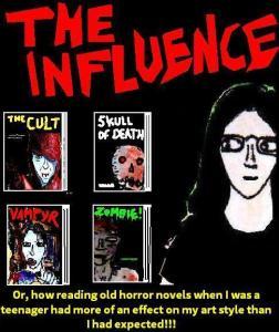 2016 Artwork horror novel cover influences sketch
