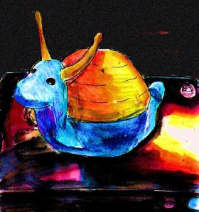 """Cute Snail And DVD"" By C. A. Brown"
