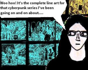 2016 Artwork cyberpunk lineart article sketch