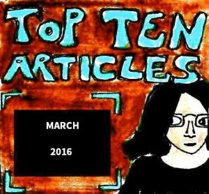 2016 Artwork Top Ten Articles March