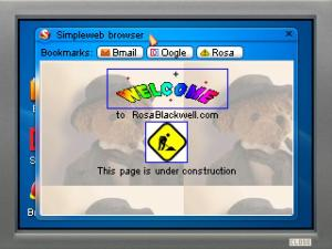 Yes, although this game is set in the 2000s, it's 1990s-influenced visual style also extends to Rosa's website, which looks like it was made in 1996...