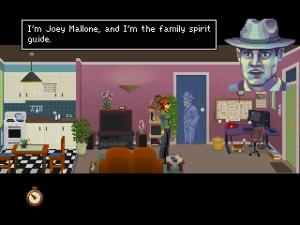 This is Joey. He's a ghostly gumshoe. And an awesome companion too!