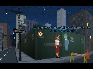 Yes, this isn't your average film noir detective game.