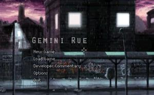 Gemini rue title screen
