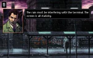 Not to mention that you can't get more cyberpunk than THIS too! Seriously, static AND rain in the same place. So cool :)