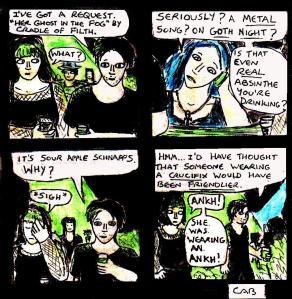 """Damania Resurgence - Goth Night"" By C. A. Brown"
