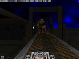 "And, yes, I laughed when this guy suddenly popped up in front of me. ""Doom"" levels can be hilariously evil sometimes."