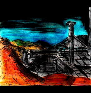"""Desert Ruins"" By C. A. Brown"