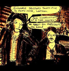 """""""Fan Art - Sherlock Holmes Blade Runner Parody"""" By C. A. Brown"""