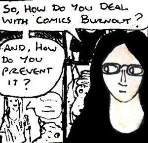 2016 Artwork Comics Burnout Article sketch