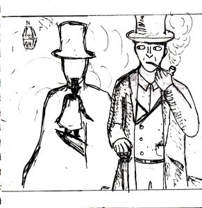 "It was going to be a ""Sherlock Holmes vs. Jack The Ripper"" picture, but it didn't really seem dramatic enough."