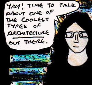 2016 Artwork The Joy of Brutalist Architecture article sketch