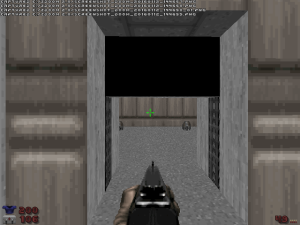 "If this door didn't happen to be at the end of E1M1, the most well-known ""Doom"" level of all time, it might have been easy to miss."